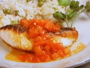 鯛のソテー トマトソース
