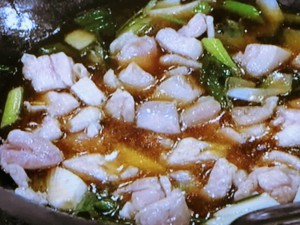 アカモクの中国風親子丼
