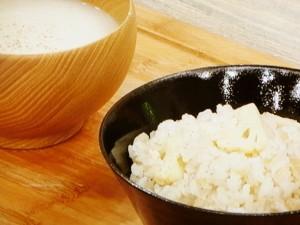 ホワイト混ぜご飯&カリフラワーのスープ