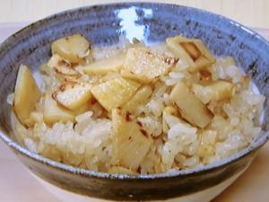 バター焼きたけのこご飯