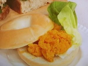 かぼちゃのマッシュ&ベーグル