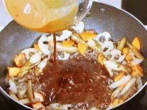 根菜の肉味噌きんぴら
