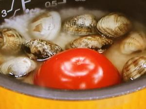 あさりとトマトの炊き込みごはん