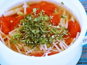 トマトとえのきのスープ