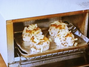 スーパー大麦の味噌チーズ焼きおむすび