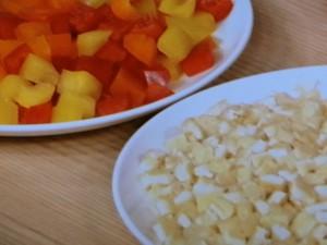 パプリカと油揚げのうす味煮