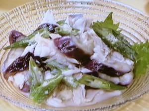 レンジ蒸し鶏のおかずサラダ