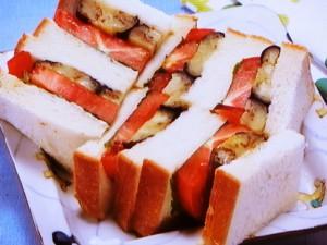 なすソテーのサンドイッチ