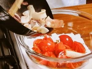 焼きいかのトマトしょうがじょうゆ