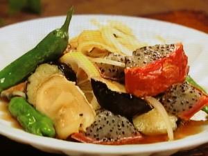 ピタヤと夏野菜の揚げびたし