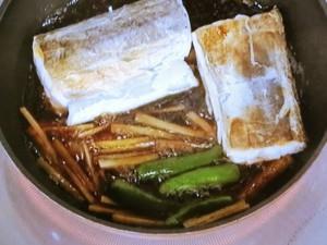 太刀魚とゴボウの煮つけ