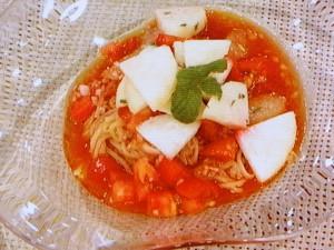 トマトとグレープフルーツの冷やし中華