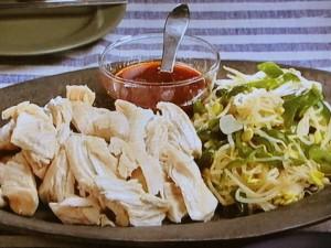 鶏肉と小大豆もやしの蒸し煮コチュジャンソース