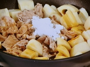 豚肉とれんこんの炒め煮