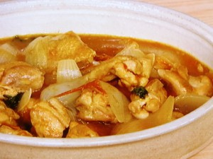 鶏肉とトマトのオイスターカレー炒め