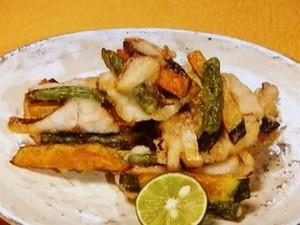 塩サバと野菜の簡単かき揚げ