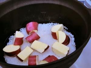 さつまいもと塩昆布のご飯
