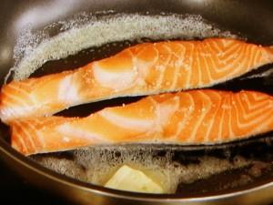 鮭のみそバター焼き