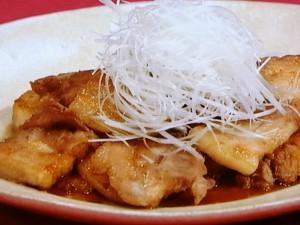 ゆで豚のカラメルソース風味