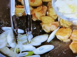 カキとチキンのクリームソース