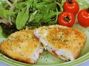トマトチーズのささみカツ
