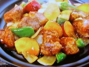 サツマイモ酢豚