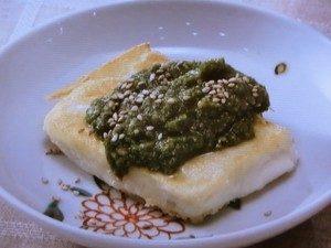 ねぎ味噌 炒り豆腐