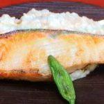秋鮭のスタミナ焼き