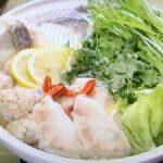 エビ餃子、タラのレモン香菜鍋
