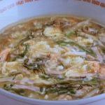 鮭のたまごスープ