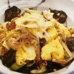 卵と豚肉の醤油炒め