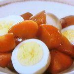 春にんじんとゆで卵の煮物