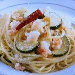 ズッキーニと海老のスパゲッティ