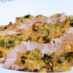 蒸し豚の野菜ソース