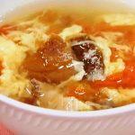 干ししいたけとトマトのかきたまスープ