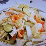 夏白菜とサーモンのサラダ