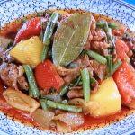 牛肉といんげんのトマトカレー煮