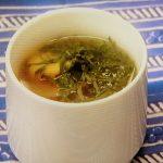 ナスの梅肉スープ
