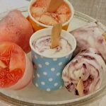 桃のアイスキャンデー