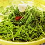 豆苗の青菜炒め