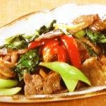 牛肉と彩り野菜のオイスター炒め