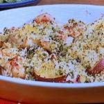 さつま芋と鶏肉のパセリパン粉焼き