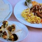 牛肉と野菜のトルティーヤ巻き