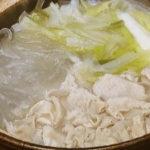 豚しゃぶと長ねぎの塩鍋