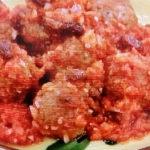 揚げ焼きミートボールのトマト煮
