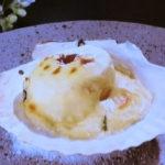 ホタテの豆腐モルネーソース