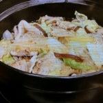 白菜と豚バラの蒸し煮
