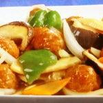 肉だんごと野菜の甘酢炒め