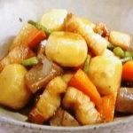 里芋と豚肉の照り煮