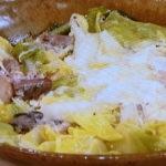 春キャベツとサバ缶の卵とじ